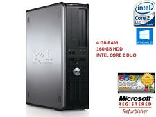 WIRELESS DELL DESKTOP PC 160GB 4GB CORE 2DUO WINDOW 10 COMPUTER TOWER SALE CHEAP