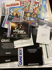 Nintendo Gameboy Anleitungen Poster Paket