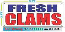 FRESH CLAMS Banner Sign NEW Larger Size Best Quality for the $$$ Fish Market