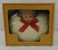 "Vintage Bunny Fur Muff hand warmer 8""x7"""
