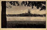 Neuruppin Brandenburg ~1920/30 Dorfansicht mit Kirche Church Eglise ungelaufen