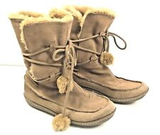 Moccasin Winter Boots Girls Faux Fur Lined Tassels 6.5 to 7 Apres Ski