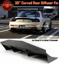 """30"""" x 12"""" ABS Black Universal Rear Bumper Fins Curved Diffuser For Toyota Scion"""