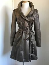 DKNY JEANS Satin Brown Dress Coat  Fully Lining size S