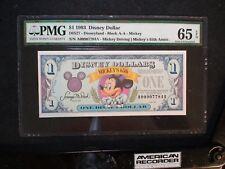 1993 DISNEY Dollar PMG GEM UNC 65 EPQ MICKEY'S DRIVING 65TH ANNIVERSARY $1 BILL!