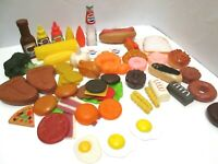 VTG PLAY TOY FOOD LOT 50 PIECES PRETEND PLAY PLASTIC