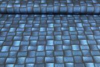 Baumwolljersey Ki-Kö-Design Traumstoffe Jeans Optik Karo Jeansblau