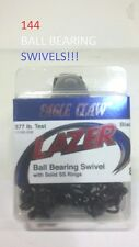 144 Lazer Sharp Sz.8 Black Ball Bearing Swivels w/Rings (11182-008) EB150201
