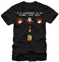 Nintendo Zelda Its Dangerous Take This Black Men's Graphic T-Shirt New