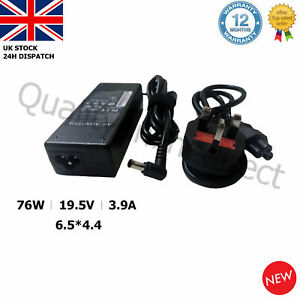SONY VAIO 19.5V 3.9A 76W LAPTOP CHARGER ADAPTER POWER SUPPLY FOR VGP VGN SERIES