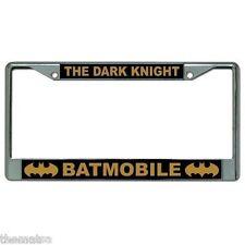 THE DARK NIGHT BATMAN BATMOBILE CHROME LICENSE PLATE FRAME MADE IN USA