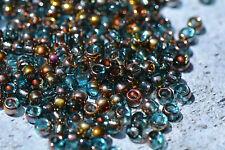 Matubo (Czech) 7/0 Glass Beads - Aqua Apollo #383-07-A6002