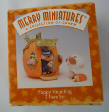 Hallmark Merry Miniature Happy Haunting Halloween Witch&Ghost Mouse Figurine 2pc