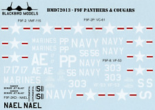 Panthers & Cougars 1/72nd scale decals