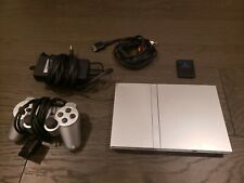 Sony PlayStation 2 Slim Silver with data card