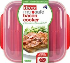 Decor 225600-004 Microweave Bacon Cooker - Red