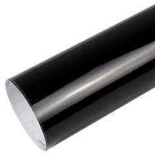 9,8?/m² Hochglanz Autofolie glänzend schwarz Glanz BLASENFREI Auto folie