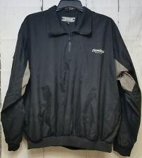 Cleveland Golf Jacket XL Pullover Windbreaker Black Khaki half zip