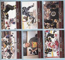 2012-13 Upper Deck UD Canvas Boston Bruins Team Set (8 w/ Krug + Sauve RC's)
