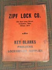 XRARE: 1940 Zipf Lock Co. Catalog locks keys locksmith supplies illustrated