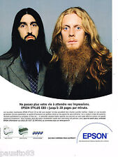 PUBLICITE ADVERTISING 065  2001  EPSON  imprimante STYLUS  C80 & C70