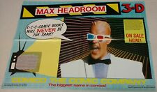 MAX HEADROOM 3D PROMOTIONAL POSTER , 1986, 16 X 22 ,  , RARE , MOST DESTROYED