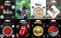 The Beatles Vinyl Stickers David Bowie Rolling Stones Metallica RHCP Rock Metal