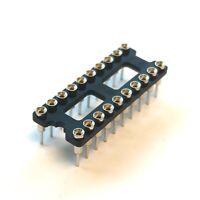 "(PKG of 5) 20 Pin DIP IC Socket, 0.1"" Pitch, 0.3"" Wide, Machine Pin, Non-Flush"