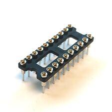 IC SOCKET 20 PIN DIP SOCKET RN 0.300 LS Screw Machine Gold Through-hole 8 Pcs
