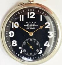 Selten Antik WWI Piloten Ace Doxa Marke V Nicht Leuchtendes Taschenuhr, Schwarz