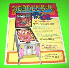 DOODLE BUG Pinball Machine Flyer 1970 Original NOS Flipper Game MOD Artwork