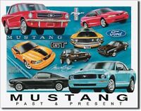Ford Mustang Chronology Stang Pony Muscle Car Retro Garage Wall Decor Metal Sign