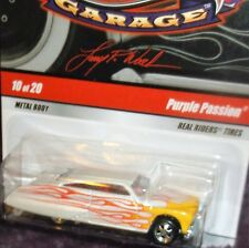 2009 Hot Wheels #10-20 Larry's Garage White with Red Flames Purple Passion '49 M