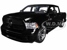 2014 RAM 1500 CUSTOM PICKUP TRUCK BLACK 1/24 DIECAST MODEL CAR BY JADA 54040