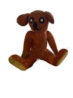 "Antique VINTAGE CINNAMON COLOURED MOHAIR  TEDDY BEAR 15"" WOOD WOOL STUFFED"