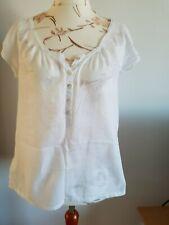 H&m da donna, ragazza shirt, Bianco, Tg. 38, buono stato.