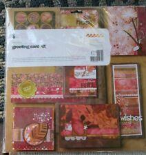 NIP BasicGrey INDIAN SUMMER GREETING CARD KIT scrapbooking 8 CARDS 8 ENVELOPES