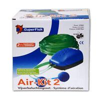 SUPERFISH AIR-KIT 2 - Pumpe 4Watt Teichbelüfter Ausströmer Sauerstoff Teich Luft
