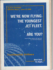 CONTINENTAL AIRLINES - SYSTEM TIMETABLE - 2 MAY 2000