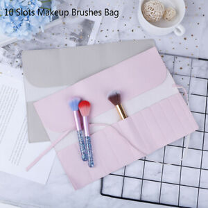 Cosmetic Bag Makeup Brushes Case Portable Bag Organizer Rolling Pouch Holder_jy