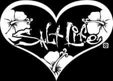 "SALT LIFE HEART & SIGNATURE ""WHITE""  UV Rated Vinyl medium DECAL*FREE SHIPPING*"