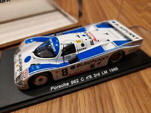 Rare Spark 1:43 Resin Model 1988 Porsche 962C Le Mans Racing Car Ref SO938, MIB