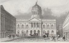 c1850 Four Antique Prints - LANCASHIRE - Liverpool & Sir Robert Peel, Blackburn