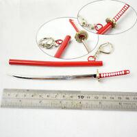 Hot One Piece Roronoa Zoro Cosplay Alloy Sword Pendant Keychain Cool Anime Gift