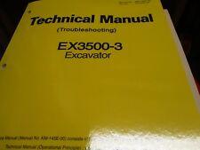 Hitachi EX3500-3 Excavator Troubleshooting Technical manual