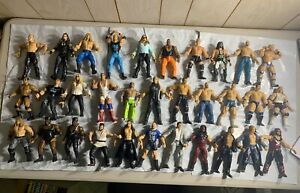 WWE Figure Lot of 32 Wrestlers JAKKS Pacific WWF WCW ECW Rare Titan Tron Vintage