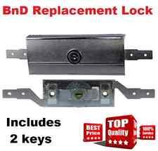 1 x Replacement B&D Garage ROLLER DOOR LOCK Set Complete+ Faceplate  BnD