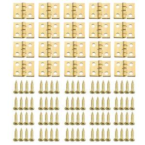 20x8*10mm  Gold Mini Small Hinge for 1/12 Dollhouse Miniature Cabinet Furniture