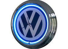 N-0227 VW - Deko Retro Neon Uhr Clock Wanduhr Neonuhr Neonclock Werkstatt