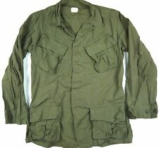 VINTAGE 60s poplin VIETNAM 1969 JUNGLE coat jacket OG107 ARMY S customized